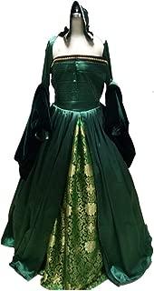 Victorian Queen Elizabeth Tudor Period Tudor Dress Anne Boleyn Style Green Dress Cosplay Costume