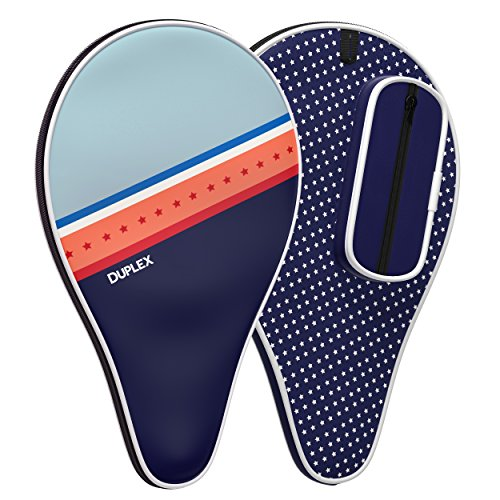 Duplex | Ping Pong Paddle Case - Best Table Tennis Paddle Cover for Blade with Bonus Ball Storage - Waterproof Material Bag
