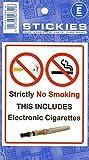 sans Cigarette électronique, sans Fumer Sticker Autocollant d'avertissement...