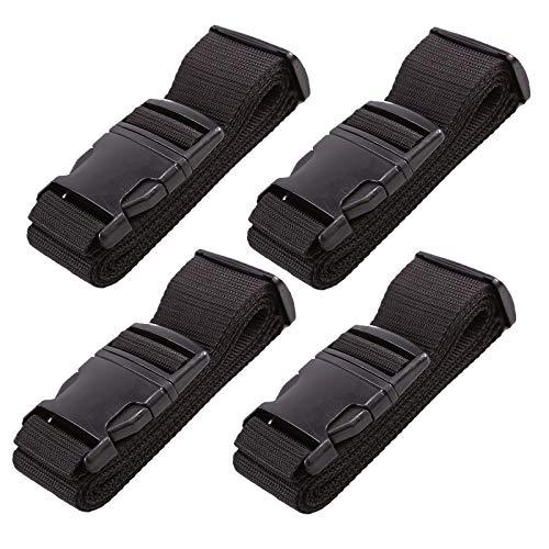 MultiWare 4X Gepäckgurt Schwarz Kofferband Mit Schloss Koffergurt Gepäckband für Reise