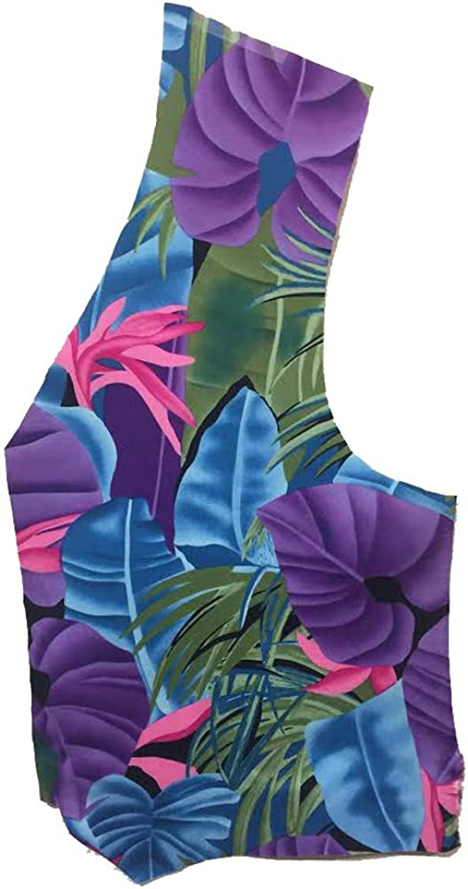 Purple Island Floral Vest and Matching Bow Tie