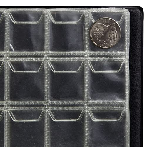 Coin Holder Book for Collectors, Holds 240 Coins (10 Pages, 8 x 6 In)
