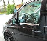 Molduras de acero inoxidable para ventanilla compatible con Mercedes W639 Vito, Viano, 2003-2014