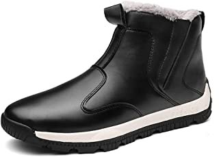 Sunshine Mens Winter Boots Waterproof Snow Fur Boots for Men Sneakers