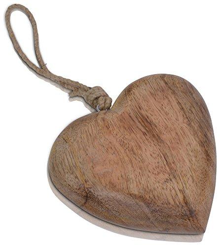 CHICCIE Mango Coeur avec Ruban en Toile de Jute 13 cm