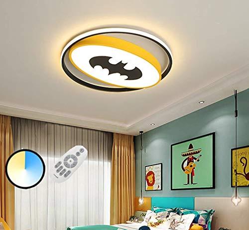 LED 48W Cartoon Kinderzimmer Lampe Fledermaus Spinne Deckenleuchte Dimmbare Junge Kinder Zimmer Lampe Acryl Lampenschirm Deckenlampe Kreative Raum Deckenlampe Schlafzimmer Arbeitszimmer,A,50cm