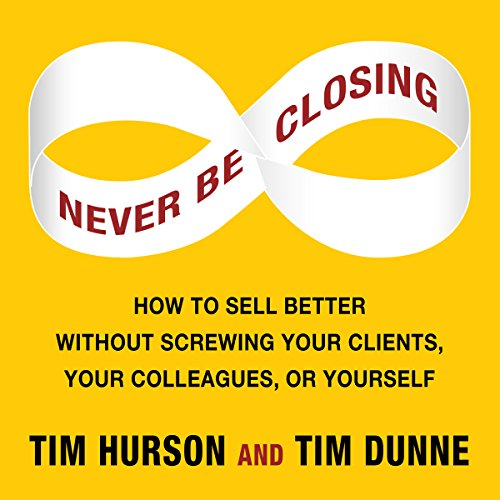 Never Be Closing audiobook cover art