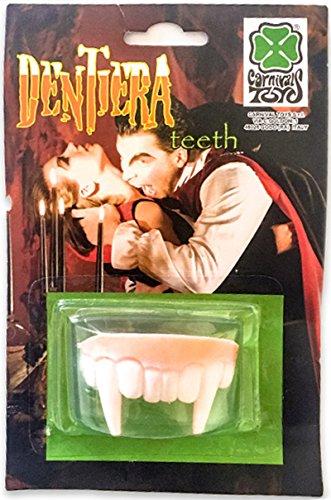 CARNIVAL TOYS S.R.L. Dentier de Vampire Partie du Haut Halloween Deguisement Costume