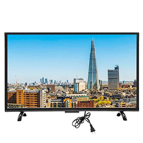 Goshyda Televisor de Pantalla Curva de 43 Pulgadas, 1920x1200 HD HDR Smart TV LED de Pantalla Grande con Control de Voz, VGA, USB, AV, HDMI, Interfaz RF, Smart Television con Cable inalámbrico(EU)