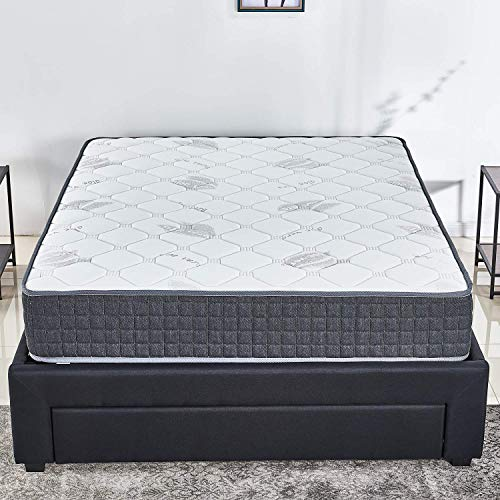 10 inch Latex Hybrid Coil Spring Mattress/Cooling Bed in a Box-Pocket Innerspring Mattress/CertiPUR-US/20Years Warranty/Firm But Comfortable (Queen)