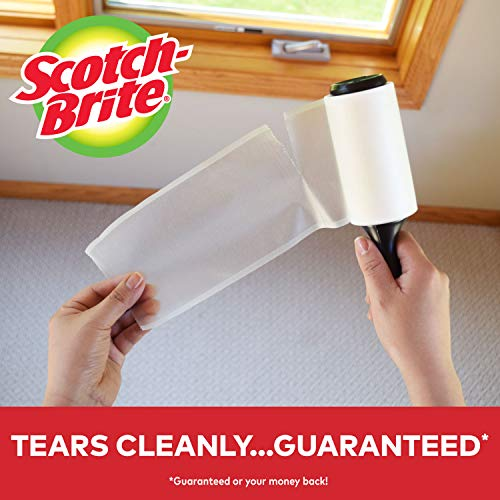 Scotch-Brite Lint Roller Value Pack, Works great on pet hair, 5 Rollers, 95 Sheets Per Roller