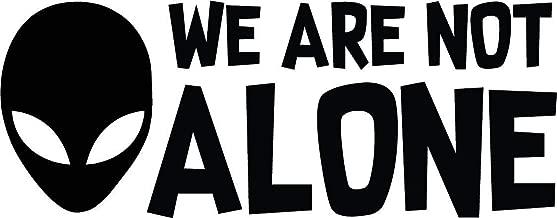 TGS Topshop Alien We are Not Alone Decal UFO Space Aliens Window Bumper Sticker Car Decor Car Stickers 15cm