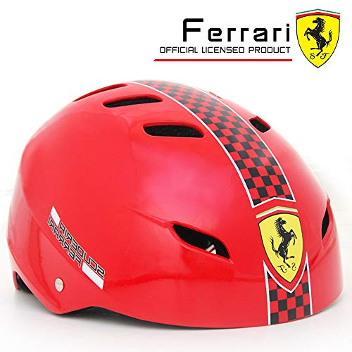 Review PROLOSO Ferrari Kids Skateboard Helmet Multi-Sports Impact Resistance Adjustable Skateboardin...