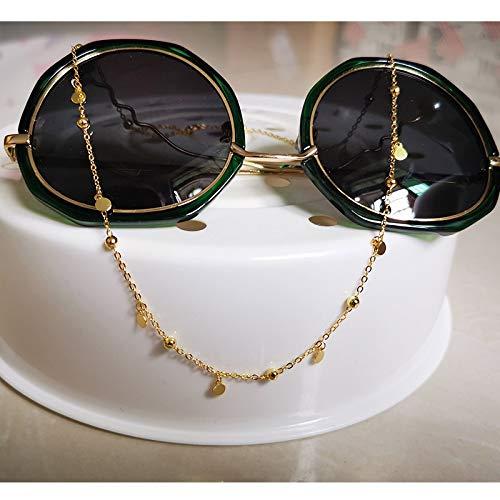 weichuang Gargantilla redonda geométrica auténtica de plata de ley 925 para mujer, joyería fina minimalista, accesorios bonitos collares de regalo para mujer (color de gema: oro, longitud: 40 cm)