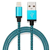 iPhone Charger Cable | Nylon Braided Fast Charging iPhone Cable | Sync 1M compatible with iPhone 11, 12|11| XS|X|XR|XS Max|8|7|7 Plus|6s|6|5 |SE| Ipad blue