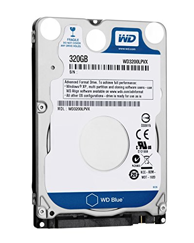WD Blue Disque dur interne (Bulk) Laptop Mainstream 320 Go 2,5 pouces SATA 5400 RPM 7mm