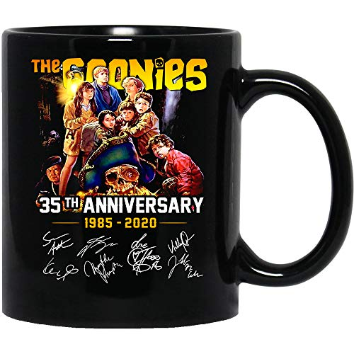 N/ The Goonies Movie Horror 35th Anniversary 1985-2020 All cast Signed Funny Coffee Mug for Women and Men Tea Cups