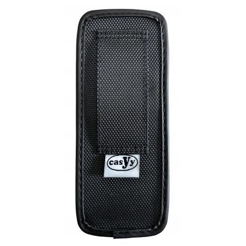 CasYy universal DECT Handy Tasche, Nylon mit Gürtelschlaufe, schwarz