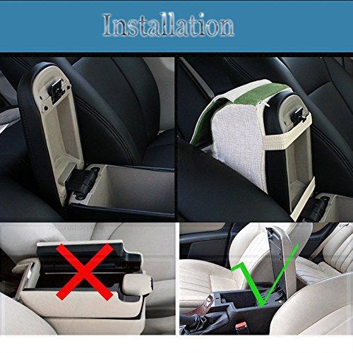 A.B Crew Breathable Memory Foam Car Armrest with Phone Holder All Seasons Auto Seat Cushion Center Consoles Cushion, Union Jack