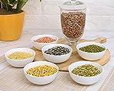 Clay Craft Basics Ceramic Dal | Cereal Bowl, Dessert Bowl, Veg Bowl - Oven and Microwave Safe - Set of 6 - 185 ml (Round)