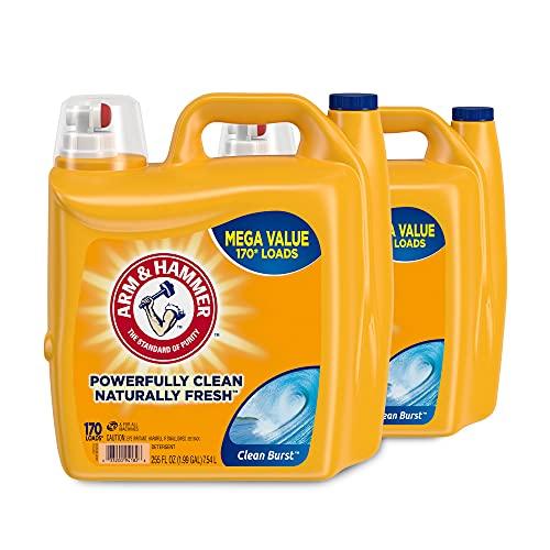 Arm & Hammer Liquid Laundry Detergent, Clean Burst, 340...