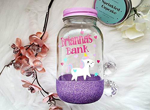 Unicorn Bank - a fully custom glass bank, making a perfect kids bank with full customization