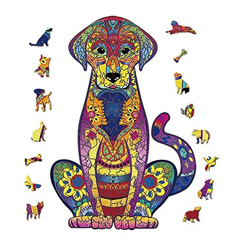 Furado Puzzle di legno,Puzzle con Animali in Legno,Pezzi di Puzzle di Forma Unica,Puzzle Animali,3D Puzzle colorato Unico a Forma,Miglior Regalo per Adulti e Bambini,Collezione di Giochi per Famiglie