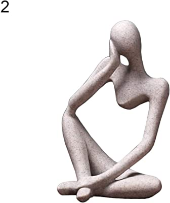A PETSOLA Handgeschnitzte Abstrakte Denker Statue Skulptur Figur Wohnkultur Aus Sandstein
