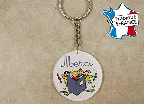 Porte Clef Merci MAITRE/MAITRESSE - Le Cadeau Original de Fin d'Année Scolaire. L'école est finie ! Vive les Vacances !