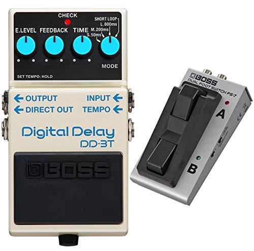 Boss DD-3T Digital-Delay Effektgerät + FS-7 Fußschalter + keepdrum Patchkabel 30cm