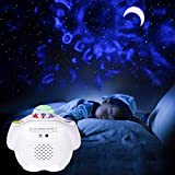 Star Night Light Projector, LED Starry Sky Lite Moon Nebula Laser Galaxy Projector, 27&Breathing Modes, RGB Color Changing Auto Flicker Lamp, Magic Mood Light for Bedroom Christmas Birthday Gift