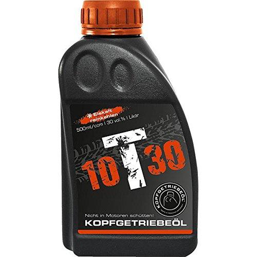3 Flaschen Kopfgetriebeöl 10T30 Likör 30% a 500ml