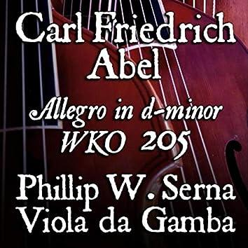 Abel: Allegro in D Minor, WK 205