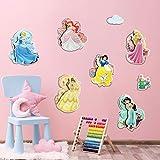 decalmile Stickers Muraux 3D Princesse Autocollant Mural Chambre Fille Décoration Murale Chambre Bébé Enfants Pépinière