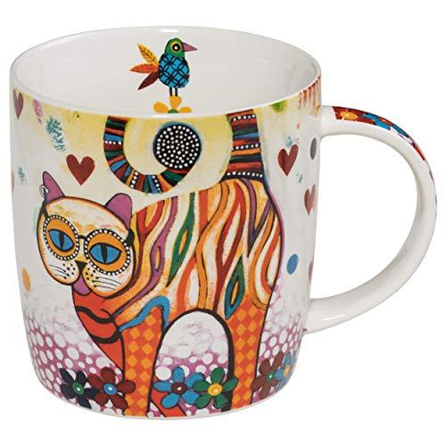 Maxwell & Williams Mug en porcelaine Motif chat coloré 370 ml