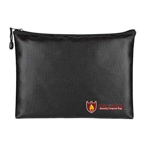 BigBig Style Fireproof Money Safe Documententas Fire & Water Resistant Document Holder Vuurvaste kluis voor geld, documenten, paspoorten en waardevolle voorwerpen