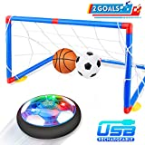 Betheaces Kids Toys Rechargeable Hover Soccer Set, Indoor Air Soccer with LED Light