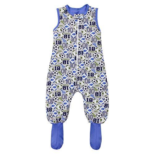 TupTam Baby Winter Schlafsack mit Beinen und Füßen, Farbe: Bälle/Grau Meliert, Größe: 104-110