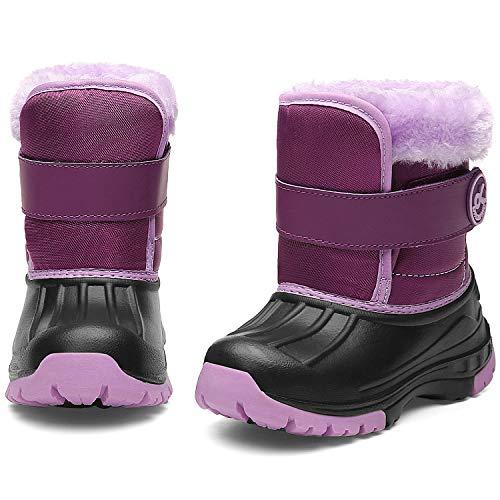 DREAM KIDS Toddler Snow Boots Boys & Girls Lightweight Waterproof Cold Weather Winter Outdoor Boots (Toddler/Little Kid) 19TXDK03-T62-2-35