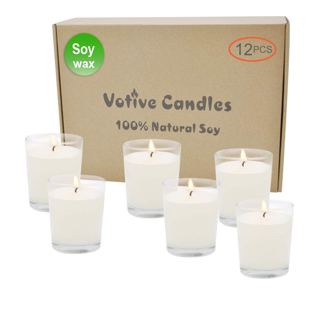 Candles Unscented Holders Decorative Long Lasting