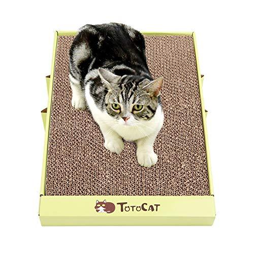 Kuoser - Rascador plegable para gatos, diseño de gatito
