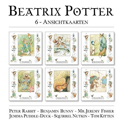 Beatrix Potter 6 ansichtkaarten