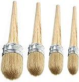 Abimars Juego de pinceles para pintura y cera de tiza – Pintura o encerado – Proyectos de...