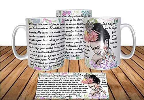 adaysusdetalles Frida Kahlo Taza,Unidad