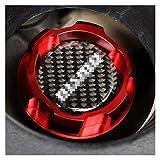 L1YAFYA Carbon Fiber Logo Red Aluminum Engine Oil Cap Fit for Nissan Altima Maxima Silvia S13 S14 240SX SENTRA Sunny Infiniti 350Z 300ZX