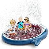 Jasonwell Inflatable Kiddie Pool Sprinkler: Splash Pad for Kids Toddlers 71-Inch Outside Children...