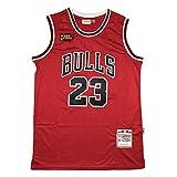 Jordan 98 Finale Logo Basketball Trikot, 23 Bulls Klassische Basketballuniform, Unisex Retro...
