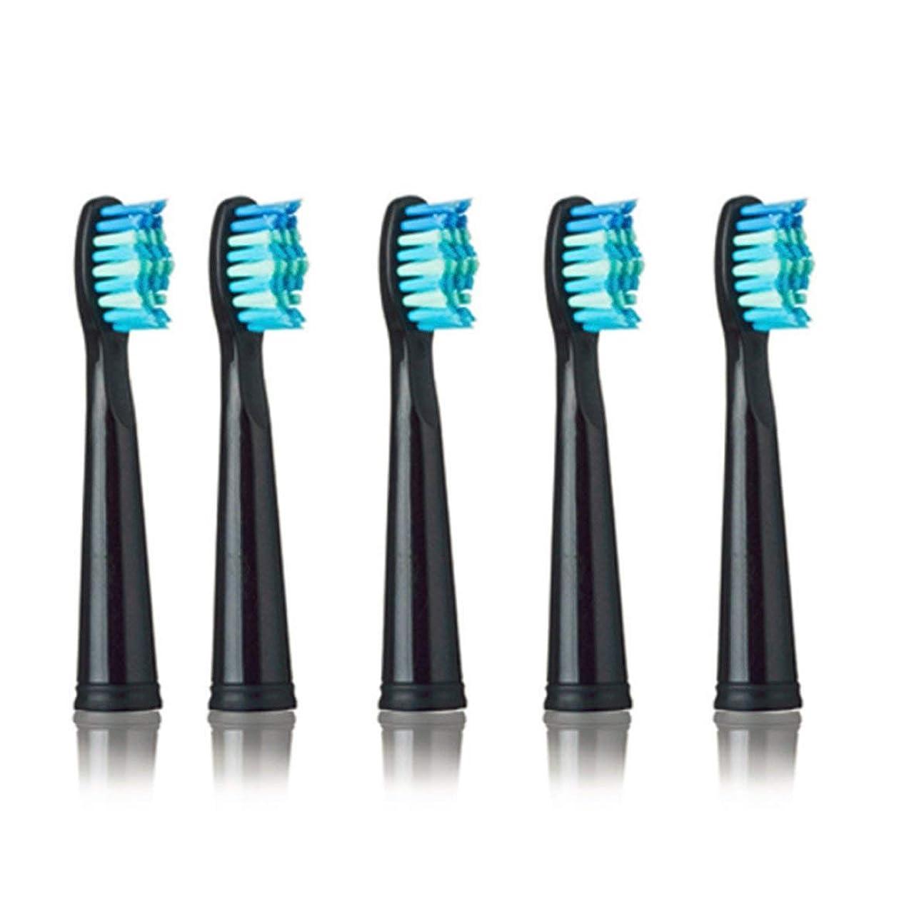 粘性の予防接種する不安定なSEAGO 949/507/610/659用電動歯ブラシヘッド抗菌自動歯ブラシヘッド電動歯ブラシ - ブラック