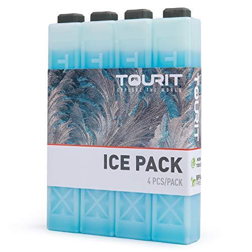 [トウリト] TOURIT 保冷剤 倍速凍結 長細いからスリム型【4/8/12個セット】お弁当 アウトドア 買い物に 各種サイズ 積立可能