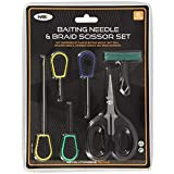NGT Fishing Tackle 6 Tool Set - Braid Scissors & Baiting Tools PLUS knot Puller